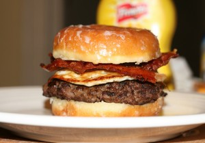 The Lady's Brunch Burger - Side View