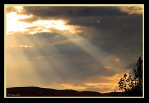 DSC_7022_1_72 - Sun's Rays Peaking Through Storm Cloud
