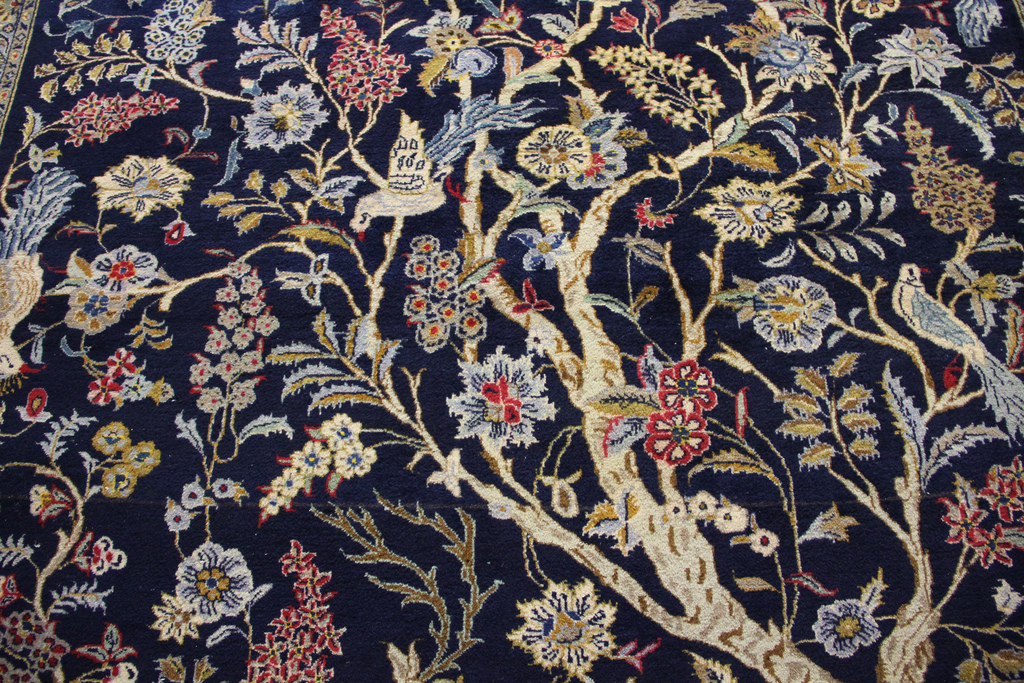 Kashan Tree of Life Birds Deer Persian Rug