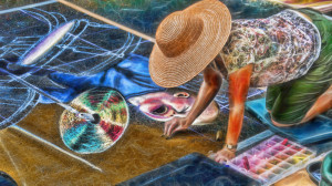 Uptown Art Expo Chalk Street Artist