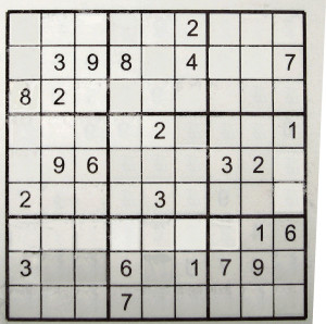 Sudoku stumper