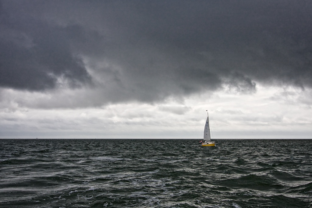Small boat on Wadden Sea