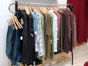 rack o' men's clothes